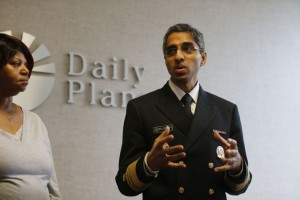 U.S. Surgeon General Vivek H. Murthy tours The Daily Planet on January 27, 2015. Photo credit: Dean Hoffmeyer, Richmond Times Dispatch
