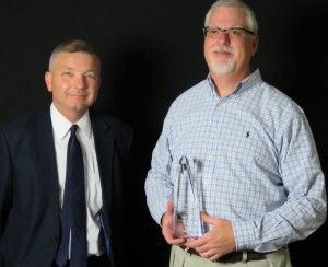 Talmage Stanley, Board Member SVCHS, with Bryan Haynes, Executive Director SVCHS recipient of the 2015 the Tony Lawson Special Recognition Award