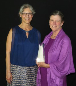 Peggy Whitehead, Executive Director of Blue Ridge Medical Center and VCHA Board President, and 2015 Team of the Year member Peggy Swan, RN, accepting on behalf of her team.