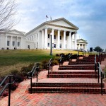 exterior of the Virginia Capitol