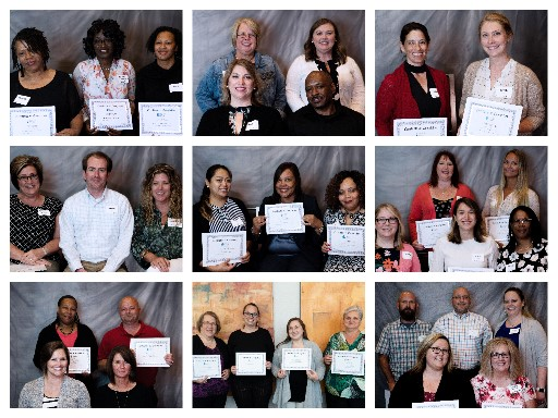 a collage of the 2018 CHC Leadership Teams