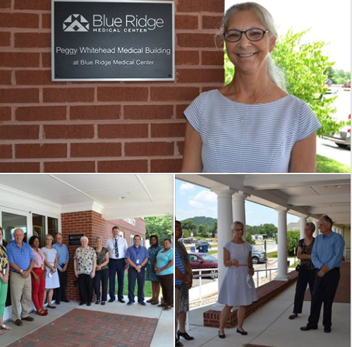a collage of building dedication photos