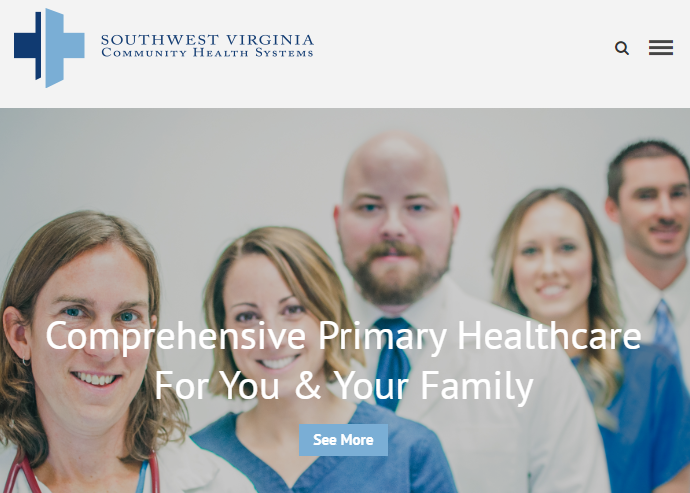 Southwest Virginia Community Health Systems screen capture of webpage