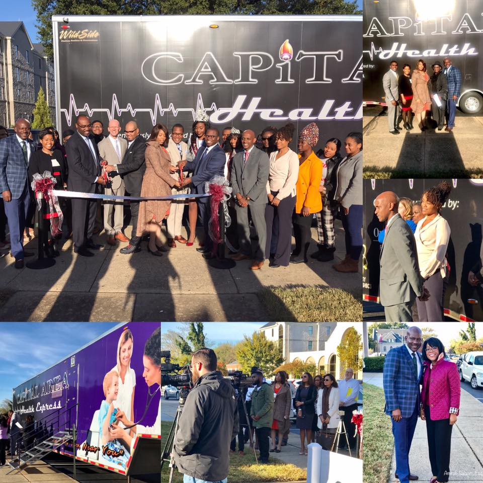 collage of ribbon cutting photos